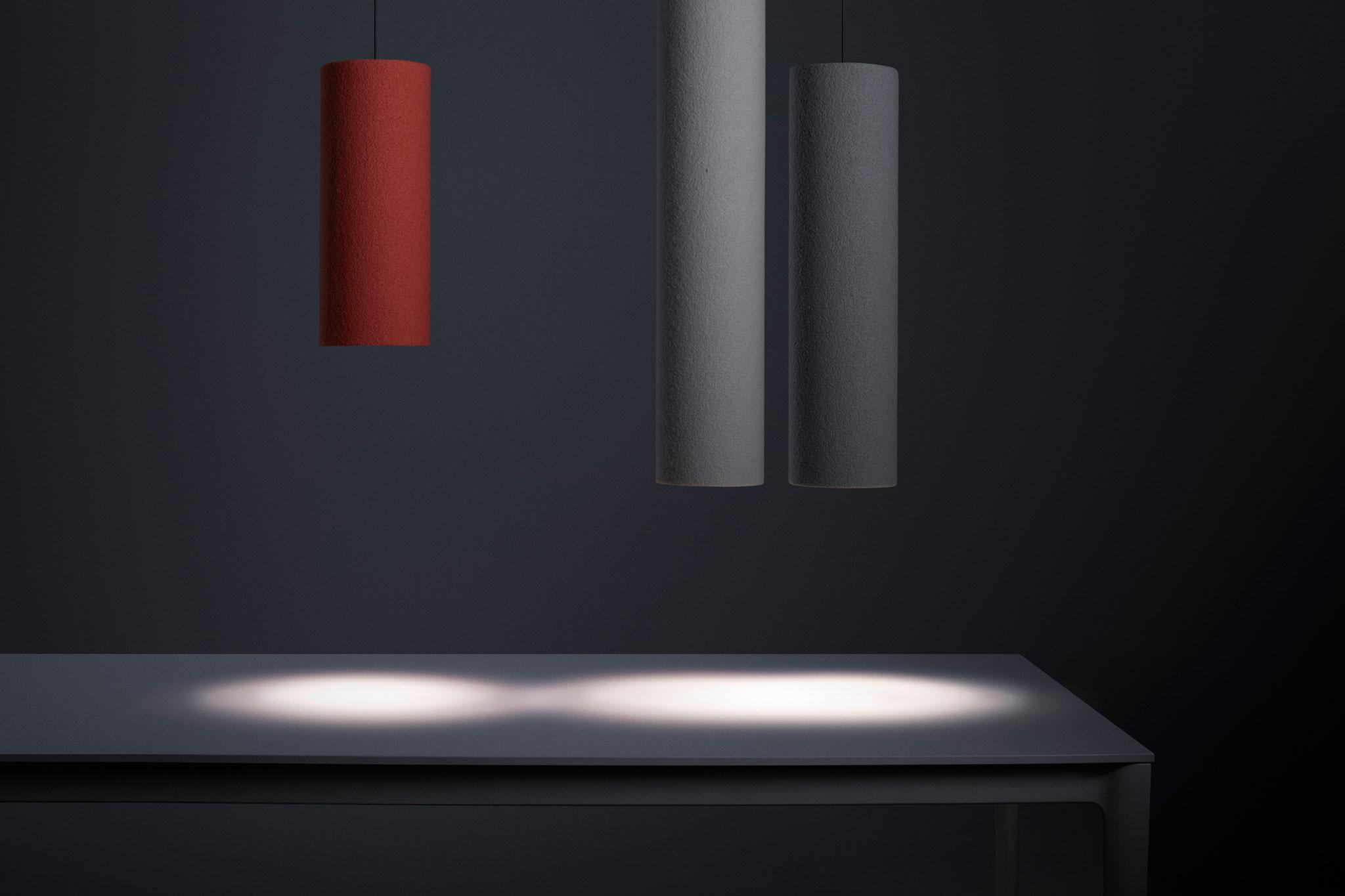 Die Akustikleuchte RELAX Tube Light bietet eine neue Dimension von ausgewogenem Raumklang und angenehmem Licht 1